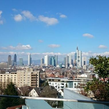 Ausblick aus dem schönsten Konferenzraum bei IMS Health in Frankfurt