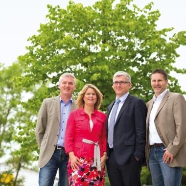 KÖGEL Geschäftsleitung (v.l. Peter Kögel, Sabine Kögel, Frank Kögel, Torsten Richter)