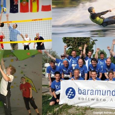 """In der von Mitarbeitern gegründeten Initiative """"baramundi bringt Bewegung"""" (kurz """"b3"""") engagieren sich die Mitarbeiter gemeinsam sportlich."""