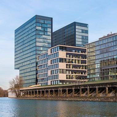 Die Nespresso Deutschland GmbH Firmenzentrale in Düsseldorf