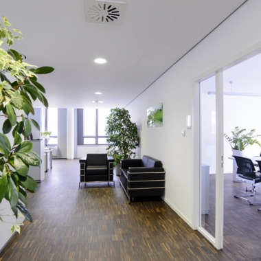 Empfangsbereich unseres Büros in München