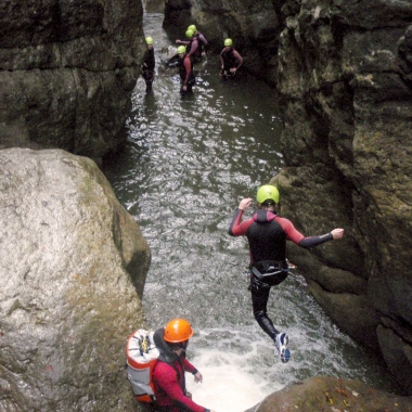 Canyoning: Teamevent des Bereichs Infrastructure Solutions
