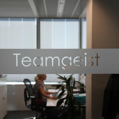 """Die atms Firmenkultur basiert auf neun zentralen Werten, die stabile Leitlinien für die tägliche Zusammenarbeit sind - einer davon ist """"Teamgeist"""""""