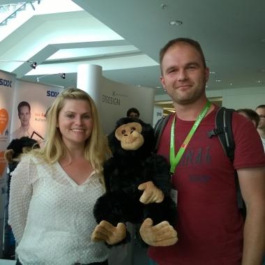 Glücklicher Gewinner eines Xamarin Affen :-)