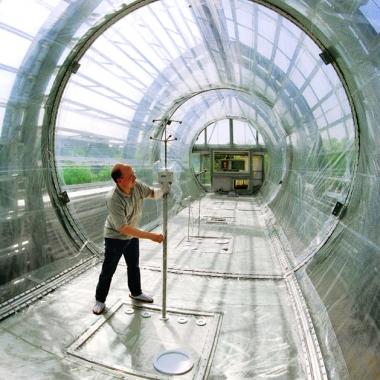 Die Atmosphärensimulationskammer SAPHIR vom Institut für Energie- und Klimaforschung (IEK-8) kann jede Atmosphäre nachstellen.