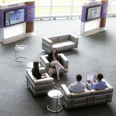 Our Monster Discovery Center serves as an open space  for collaboration among employees.