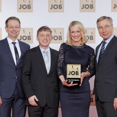 Tanja Wallmeier, Michael Flaig und Christof Bartsch bei der Top Job 2016 Preisverleihung