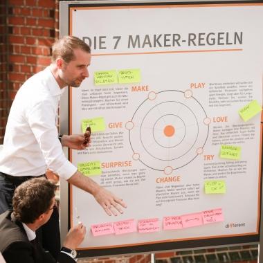 Dirk moderiert einen Workshop bei unserem Open House