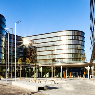 2016 Erste Campus Ansicht Haupteingang © Christian Wind