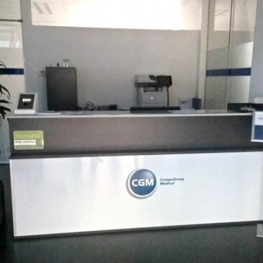 Der Welcome-Desk für Besucher - Herzlich willkommen bei CGM Clinical Österreich!