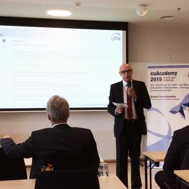 cuAcademy - Unser jährlich stattfindendes Managementforum für SAP-System-integriertes Dokumentenmanagement, Vertragsmanagement und Lizenzmanagement.