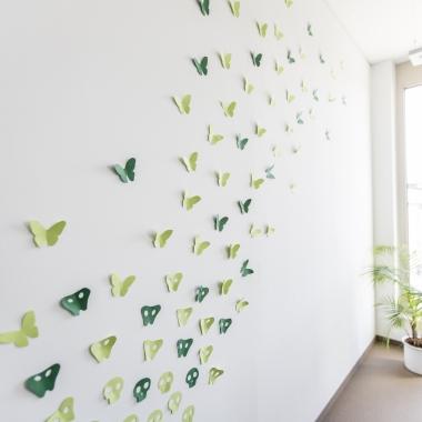 Wanddeko in unseren Büros