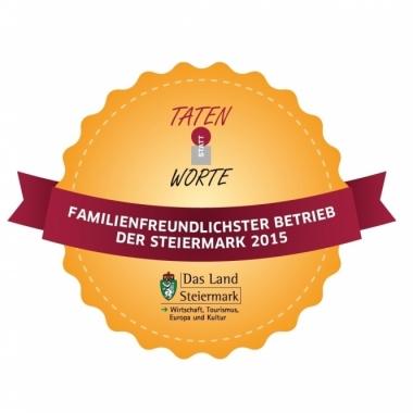 Familienfreundlichster Betrieb der Steiermark 2015