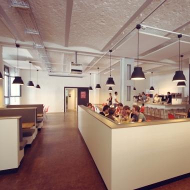 Unsere Lounge für Allhands, Team Events und Mittagspausen