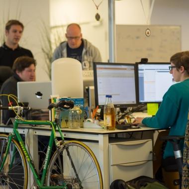Teamarbeit im Open Space