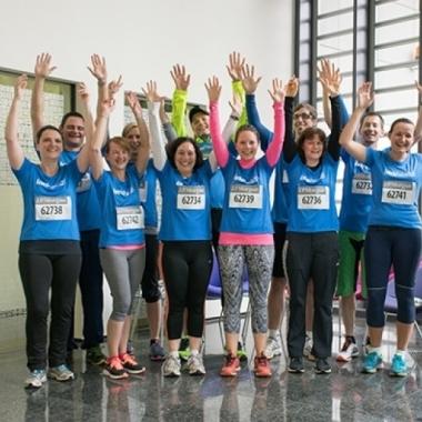 Auch 2016 haben sich einige IMS Health Mitarbeiter an der J.P. Morgan Corporate Challenge in Frankfurt beteiligt.