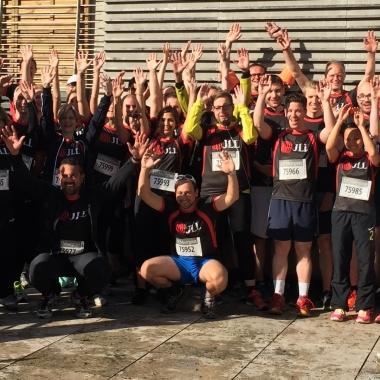 Unser JLL-Team beim J.P. Morgan Corporate Challenge-Lauf 2016 in Frankfurt