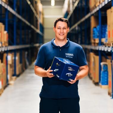 Unsere Produkte verschicken wir aus unserem Logistikzentrum in Rastede in die ganze Welt.