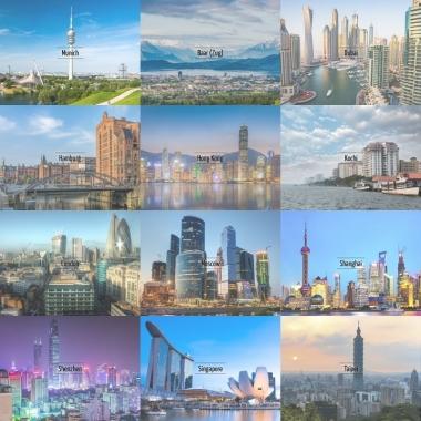 Unsere Niederlassungen in Finanzmetropolen in Asien und Europa
