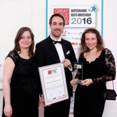 Great Place to Work - Auszeichnung für einen der besten Arbeitgeber Deutschlands in Berlin 2016