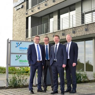 Geschäftsführung der Windhoff Software Services GmbH: Markus Brünen, Jürgen Kemp, Carsten Reinecke, Norbert Sundermann (v.l.)