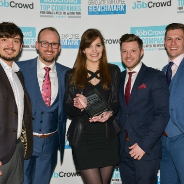 theJobCrowd Top Companies for Graduates to work for Awards