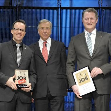 Preisverleihung TOP JOB Sieger 2012 mit Wolfgang Clement