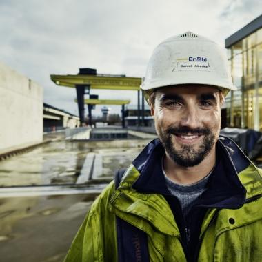 Daniel Abeska, Mechaniker im Rheinkraftwerk Iffezheim bei der EnBW.