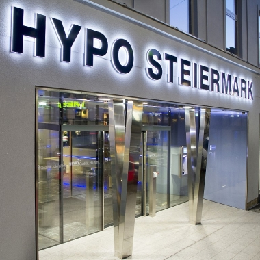 Die Zentrale der HYPO Steiermark in Graz
