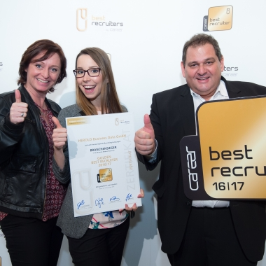 Gold Siegel 2016/2017 als Best Recruiter! Wir freuen uns!