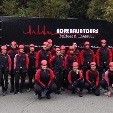 Azubi-Ausflug September 2016, Harz-Braunlage, Canyoning