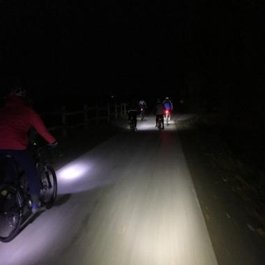 JW Ride, MTB Tour am frühen Morgen, Dezember 2016
