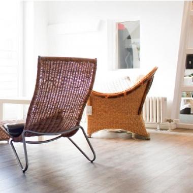Lounge in einem der Obergeschosse im Gewerbehof.
