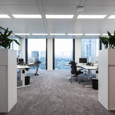 Smart Working in einem sehr modernen Arbeitsumfeld