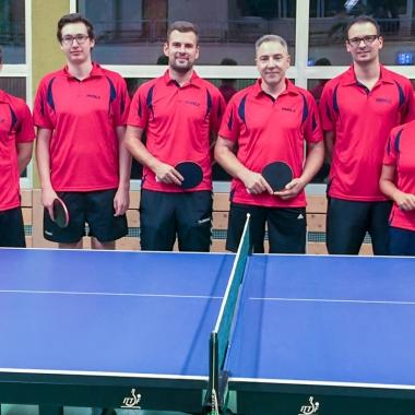 Tischtennis-Team bei Herrmann Ultraschall