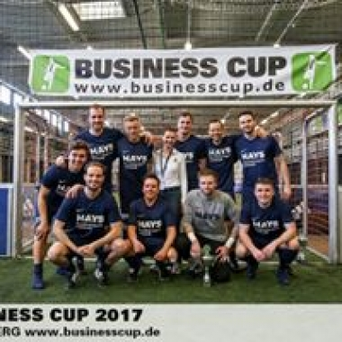Unsere Nürnberger Hays Kollegen beim Business Cup