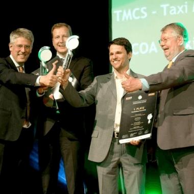 """eMundo Salzburg mit dem Projekt TMCS den 1. Platz in der Kategorie """"Internationale Projekte"""""""