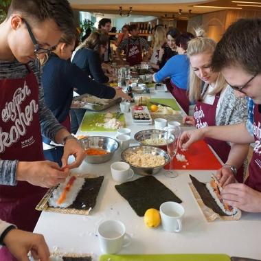 Sushi-Kochkurs in der Kanzlei, April 2017