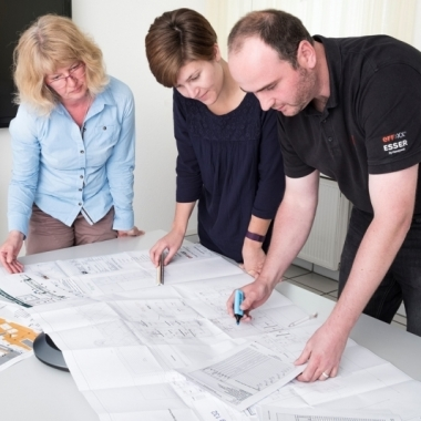 Teamarbeit bei der Projektierung
