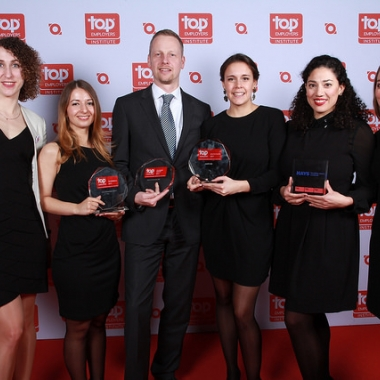 Preisverleihung Top Arbeitgeber in Düsseldorf (Copyright: Top Employers Institute)