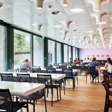 Eines von mehreren Helvetia Personalrestaurants in St. Gallen