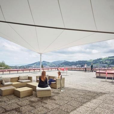 Dachterrasse in St. Gallen mit fantastischem Ausblick