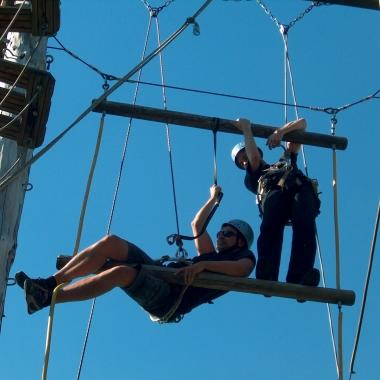 Auch wir hängen manchmal in den Seilen ;)