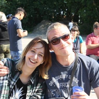 Jerry Buchholz aus der Einrichtung Phoenix und Marco Rolle aus der Einrichtung Pangea beim diesjährigen Sommerfest am Strand :-)