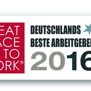 """Die Deutsche Rück gehört zu den Unternehmen, die von """"Great Place to Work"""" als Deutschlands beste Arbeitgeber 2016 ausgezeichnet wurden."""