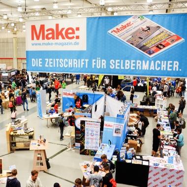 Das Magazin Make präsentiert das bunte DIY-Festival Maker Faire, das jährlich in Hannover und Berlin stattfindet.