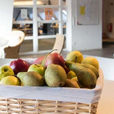 Obst und Gemüse gibt es bei uns täglich frisch. Kostenfrei!