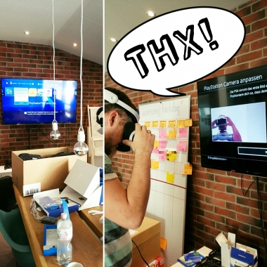 VR-Brille in unser Playstationlounge