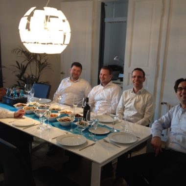 Ein Team-Dinner in 2015