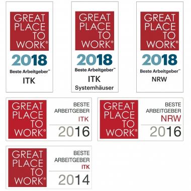 """COMPIRICUS schon seit mehreren Jahren in Folge als """"Great Place To Work"""" ausgezeichnet."""
